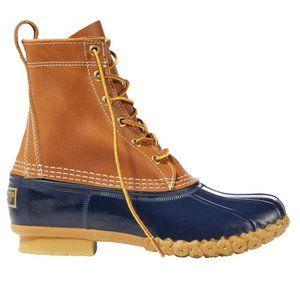 """LLBean Women's Navy Blue Bean Boots - 8"""" Rise"""
